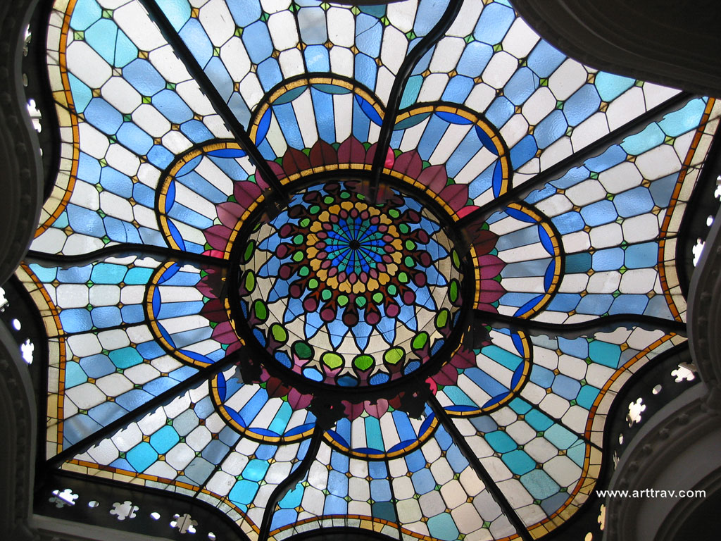 Skylight in the decorative arts museum of Budapest