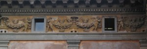 Terracotta Frieze on villa Farnesina