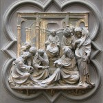Lorenzo Ghiberti: North door (christ among the doctors)