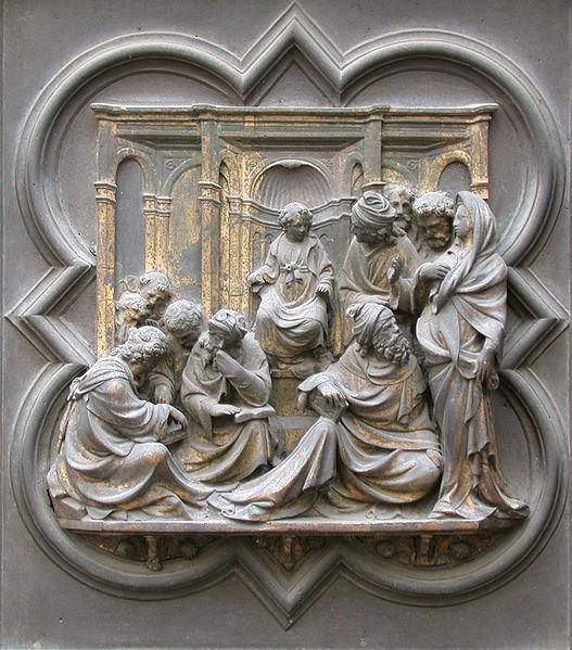 Lorenzo Ghiberti: North door (christ among the doctors)