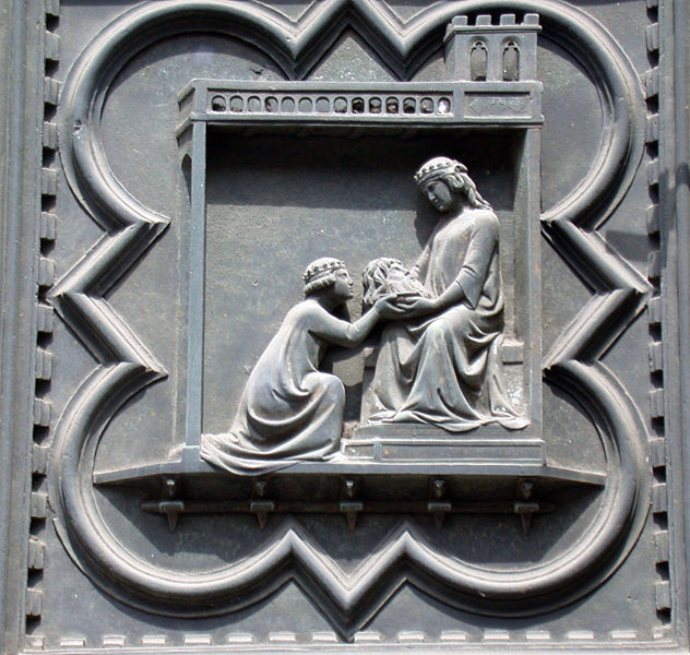 Andrea Pisano: South door (head of John the Baptist)