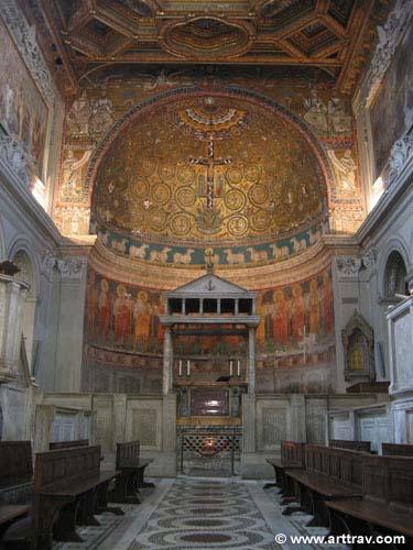 San Clemente mosaic vault over altar