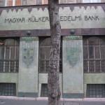 secessionist motif on bank facade