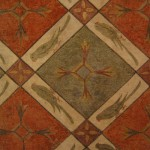 Sala dei pappagalli wall pattern