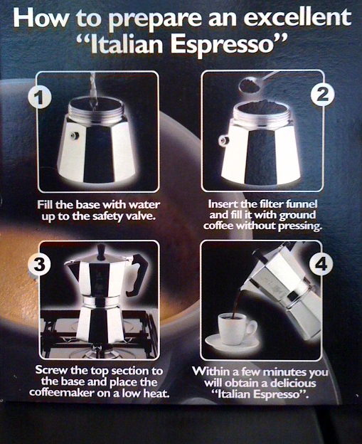 Italian coffee maker how to use Keukentafel afmetingen
