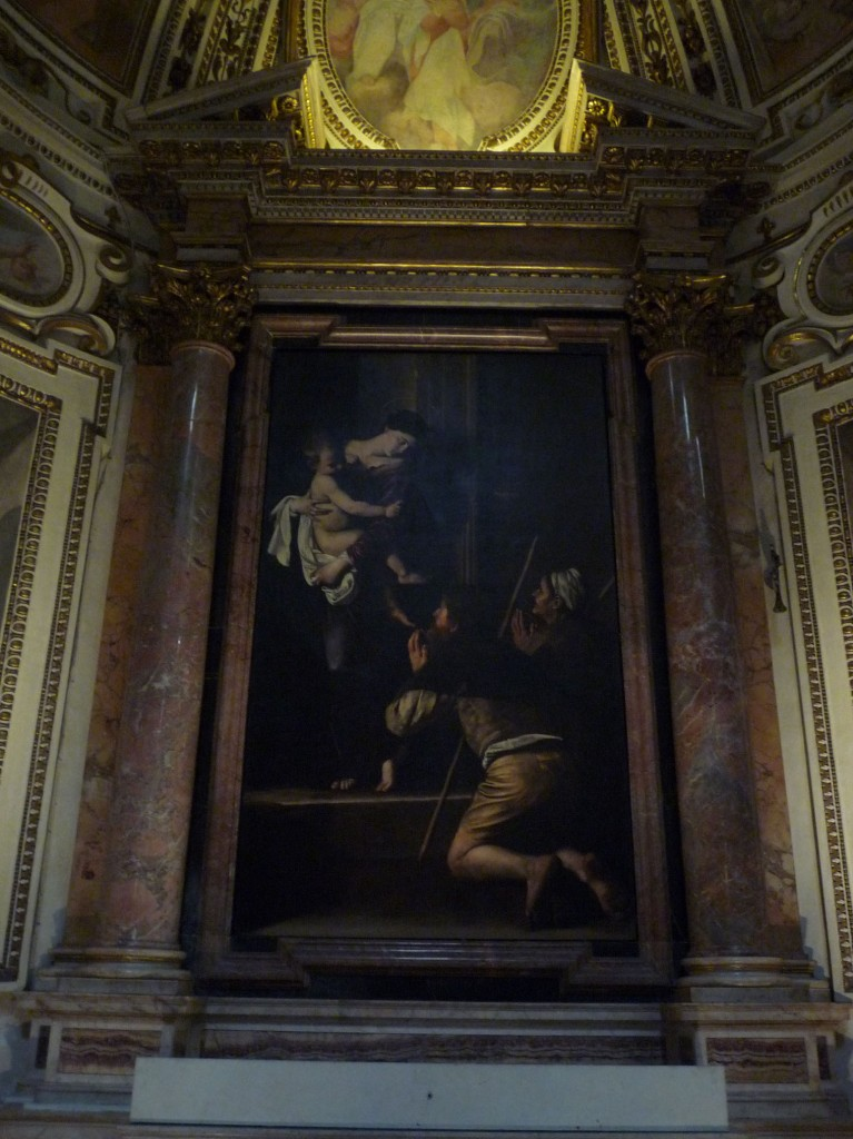 Caravaggio's Madonna dei Pellegrini is in the church of Sant'Agostino