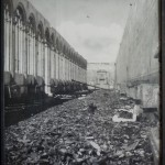 Photo of the war damage (poster in camposanto)