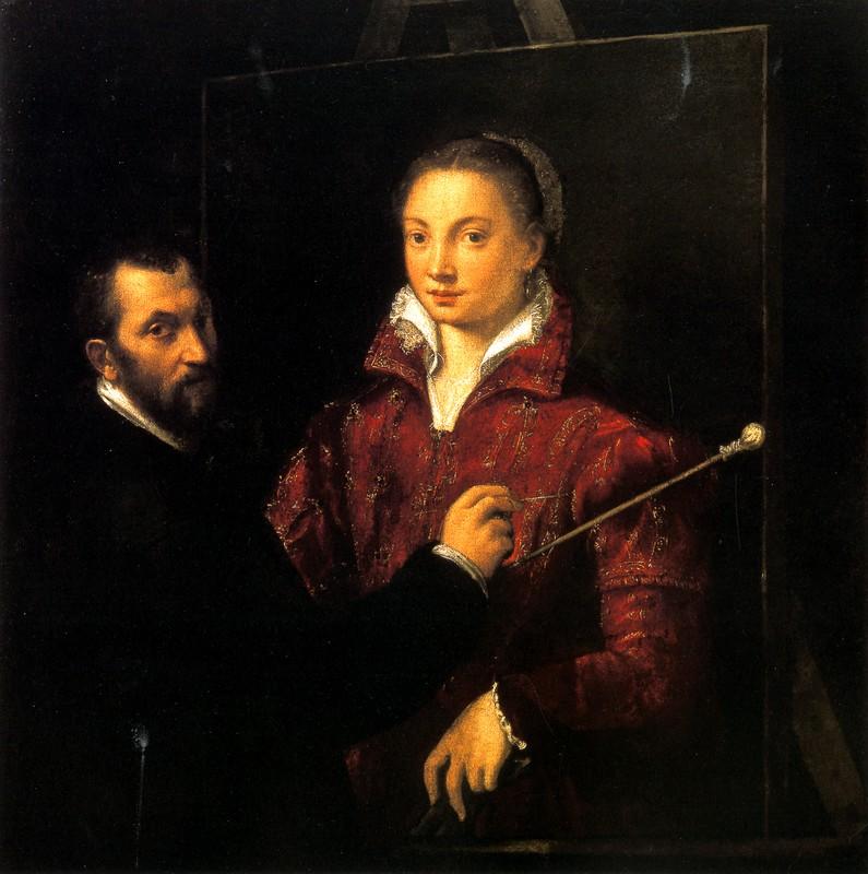 Sofonisba Anguissola, Bernardino Campi painting her, Siena: Pinacoteca Nazionale