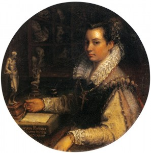 Lavinia Fontana, Self Portrait in Studiolo, Vasari Corridor, Uffizi, Florence