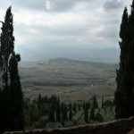 View of the Crete Senesi landscape from Pienza
