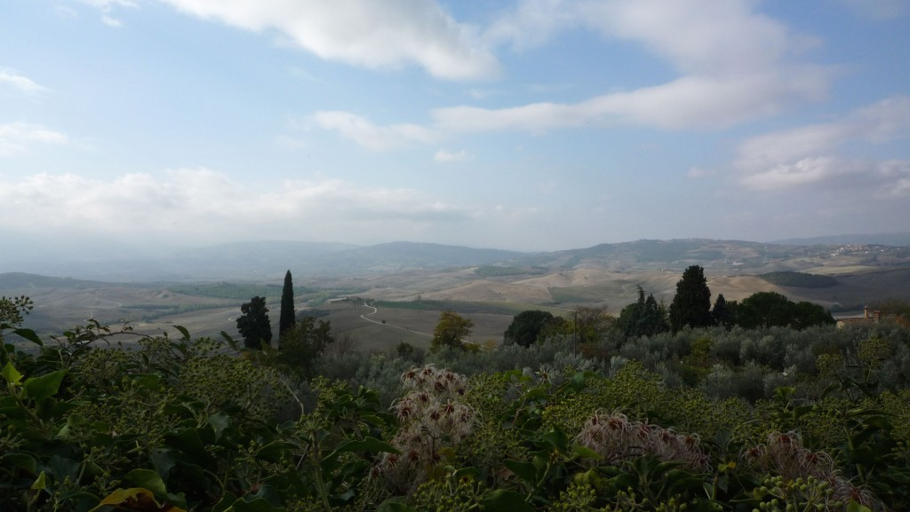 Panoramic views abound in Pienza