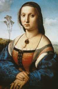 Raphael's Portrait of Maddalena Doni (Pitti Palace, Florence). Image in the public domain.