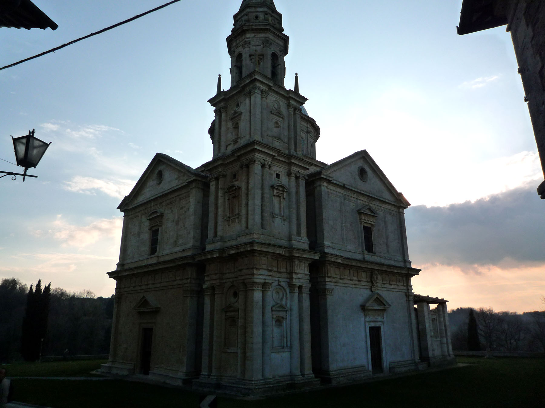 San Biagio montepulciano from right side at sunset