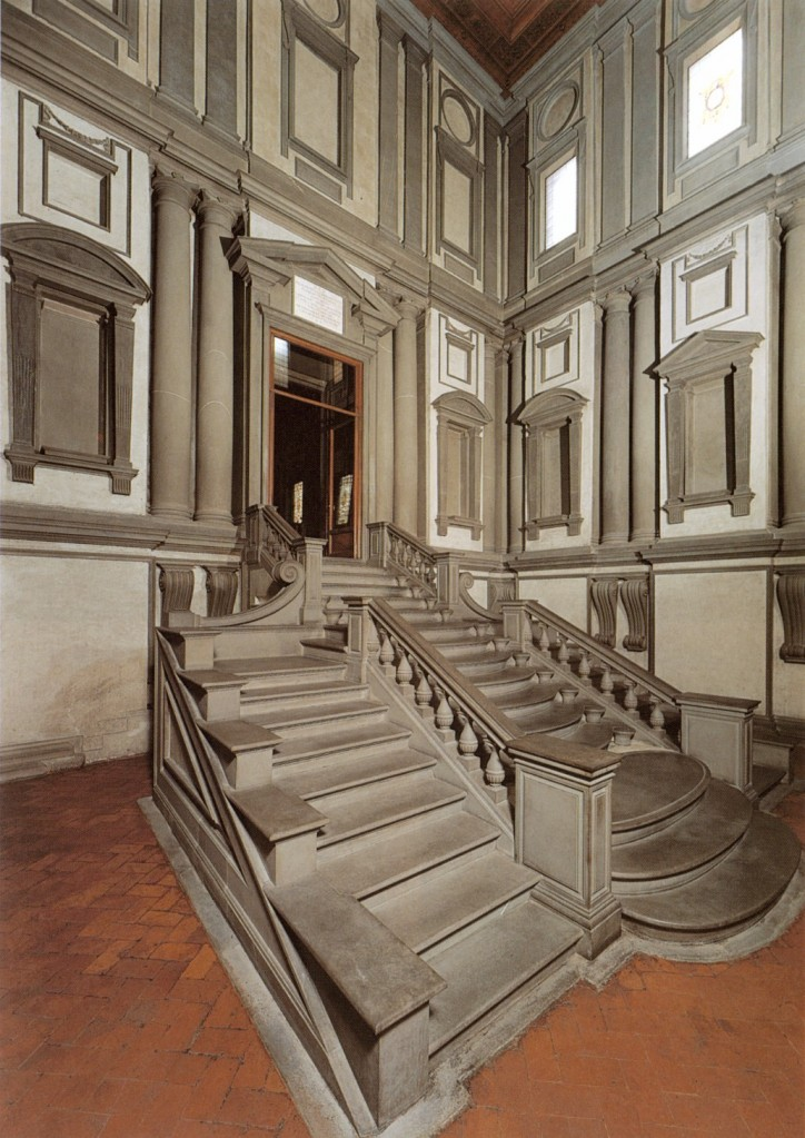 Laurentian Library Vestibule stairway and entrance