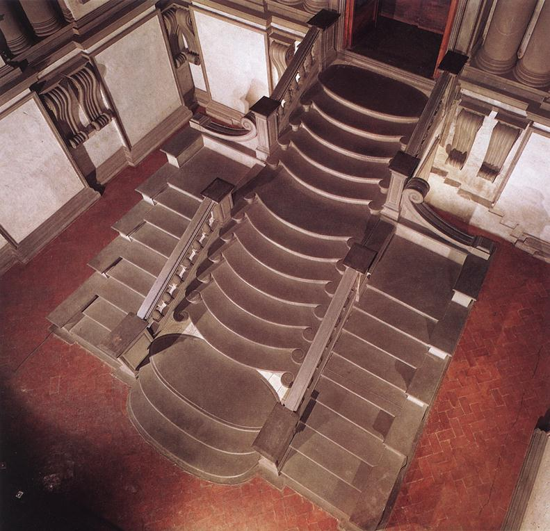 View of stairway from above (source: from a book)