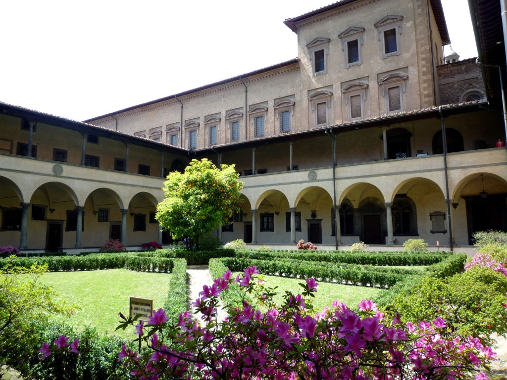 Exterior of Laurentian Library seen from courtyard of San Lorenzo