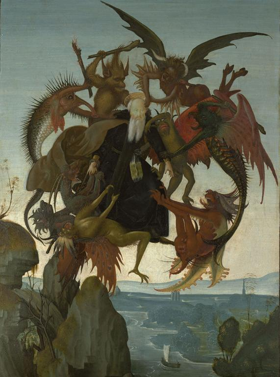 Michelangelo, The Torment of Saint Anthony, c. 1487–88. Oil and tempera on panel. Kimbell Art Museum, Fort Worth