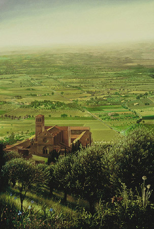 William Patterson, The Basilica of Sant Francis of Assisi, oil on canvas, 66x44, 1998