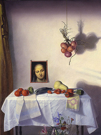 William Patterson: Garden Shrine, oil on panel, 52x42 1998