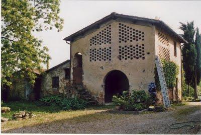 The Fienile (barn) before restoration