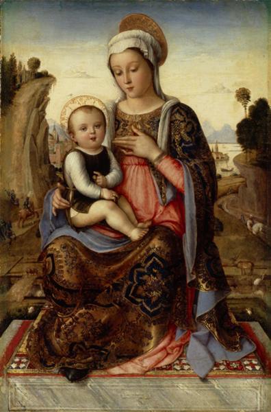 Artista veneziano ignoto Madonna con Bambino, tardo XV sec. Olio su tela (trasferito da tavola), cm 58x38 San Pietroburgo, Museo Statale Ermitage