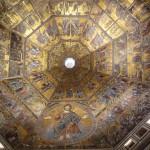 Inside Florence Baptistry mosaics on cuppola