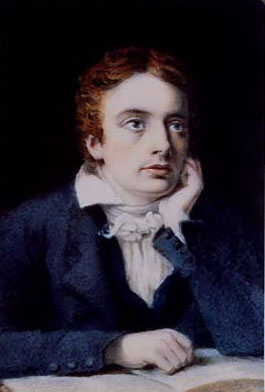 Miniature of Keats, by Joseph Severn, from Keats-Shelley Museum website