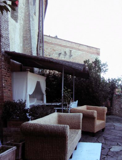 The veranda at the locanda