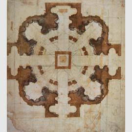 Michelangelo Buonarroti, Studio planimetrico per San Giovanni dei Fiorentini, Firenze, Casa Buonarroti