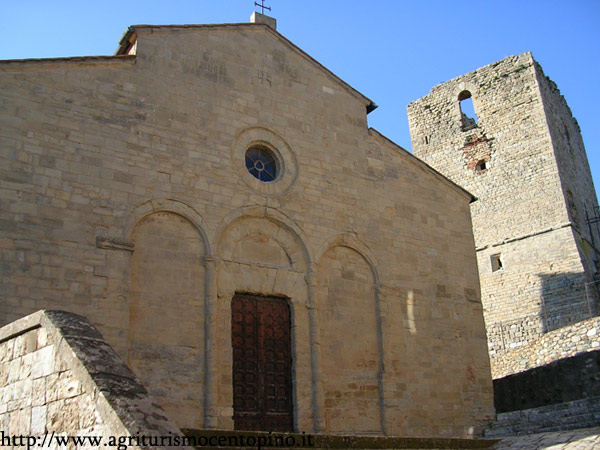 Montecastelli's church and tower