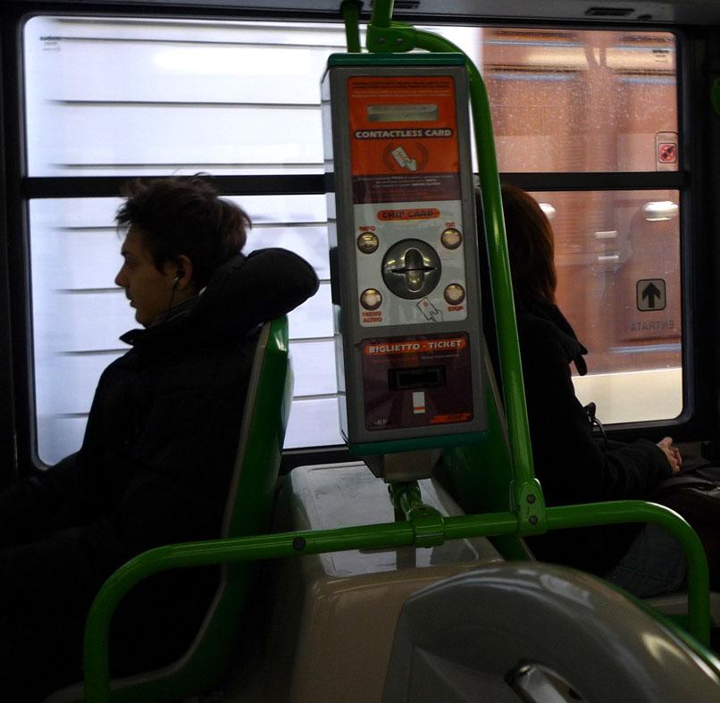 bus ticket machine on ATAF Firenze