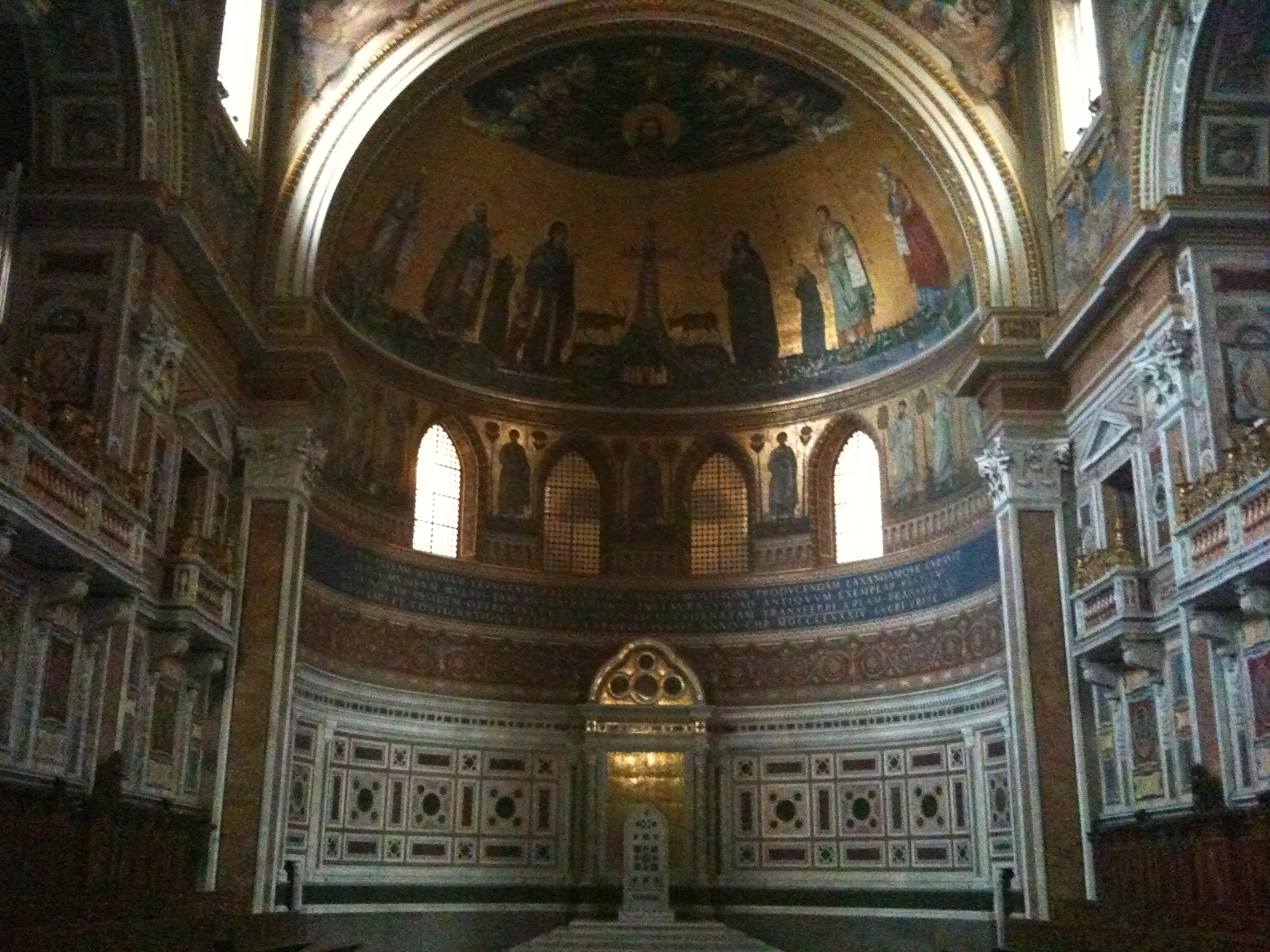 The seat of the Pope at San Giovanni in Laterano