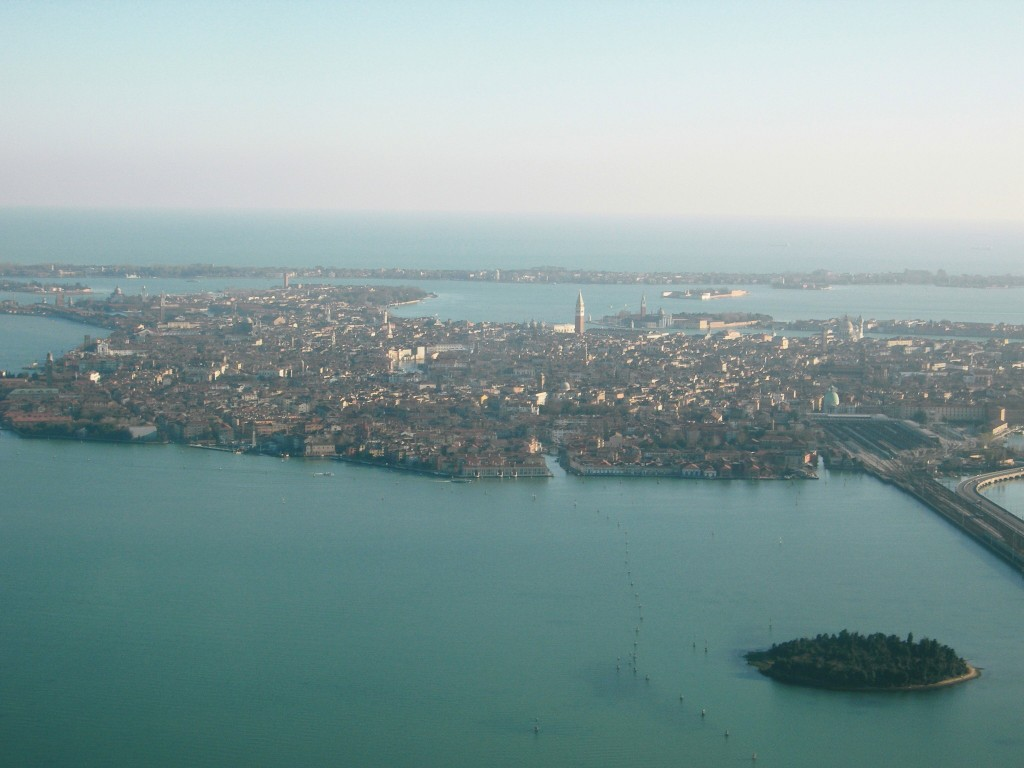 Venice from above - view from the plane