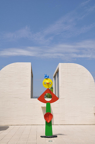 Upper terrace of the Miro museum in Barcelona
