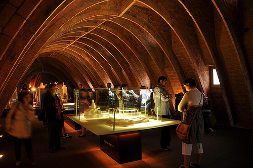The attic of La Pedrera contains a useful museum about Gaudi
