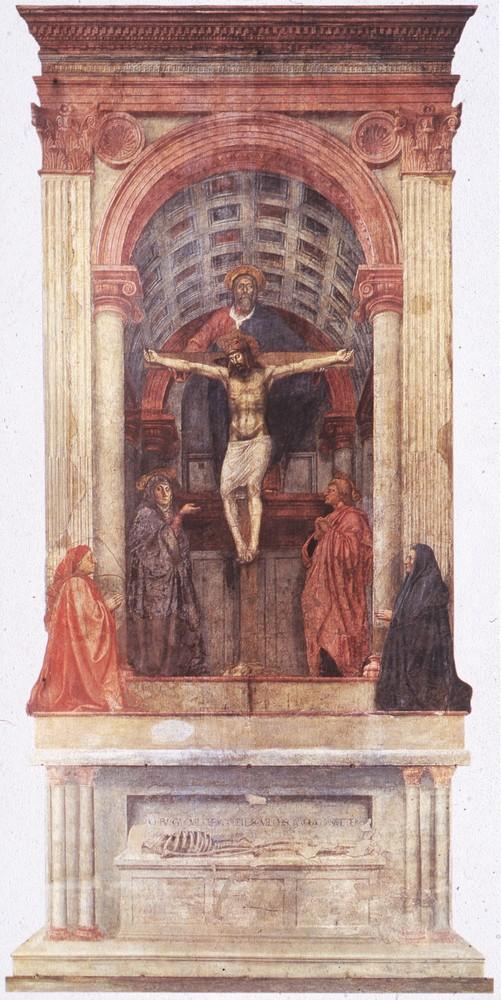 Masaccio, Trinity, SMN