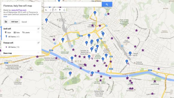 Where to get free wifi in Florence - ArtTravArtTrav