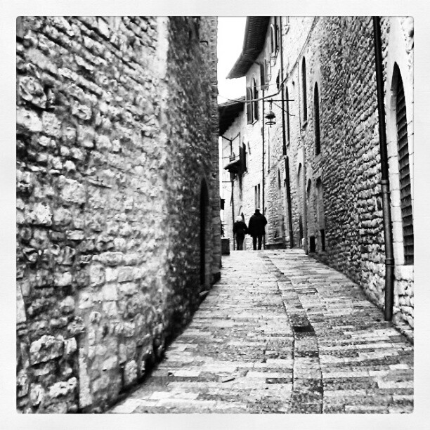 Assisi in black and white