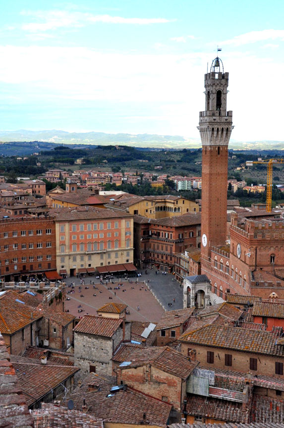 Siena seen from above