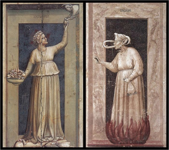 giotto charity and envy