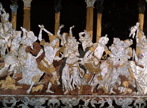 4 Matteo di Giovanni, Strage degli innocenti, particolare. Siena, Siena Duomo floor