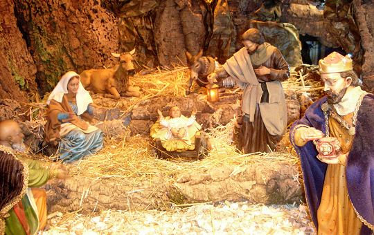 Nativity scene at Don Orione