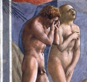Detail of Masaccio's Explusion of Adam and Eve