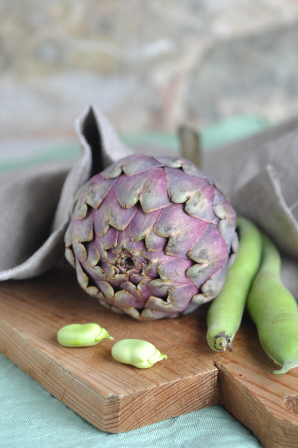 Artichoke and fava beans