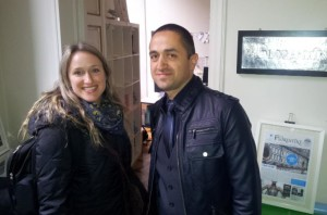 Hasan and I at The Florentine's office