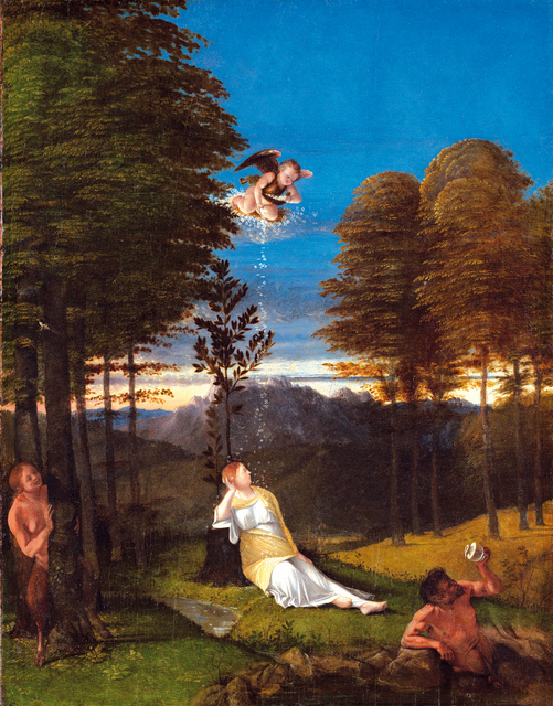 Lorenzo Lotto (Italian, c. 1480 - 1556/1557 ), Allegory of Chastity, c. 1505, oil on panel, Samuel H. Kress Collection