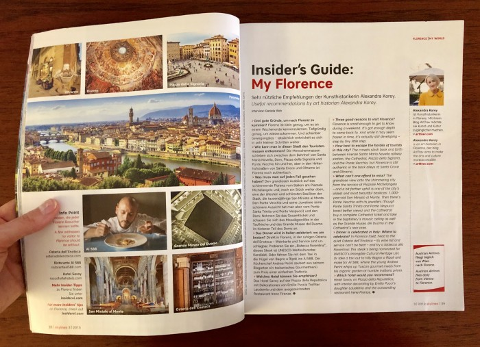Skylines Magazine Insider Guide contribution, Summer 2019