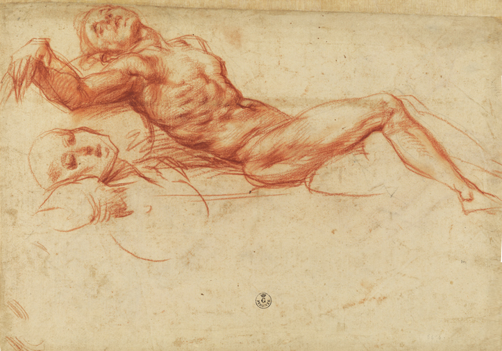 This is a beautiful drawing by Pontormo in the GDSU of the Uffizi. I have seen it half a dozen times though.