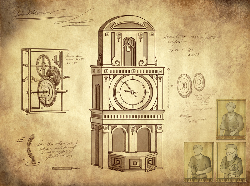 Clock Tower building card in Genio Game