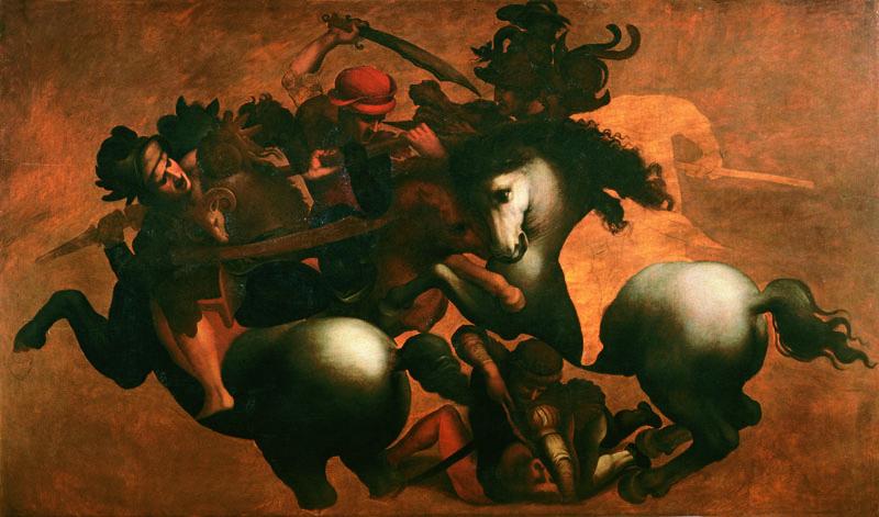 Later Cinquecento copy of Leonardo's composition. Palazzo Vecchio storage.